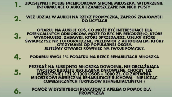 Zdjęcie opisu zbiórki Miłoszek w walce z MPD