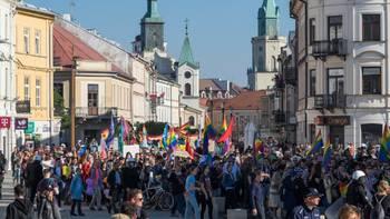 Zbiórka Drugi Marsz Równości w Lublinie - miniaturka zdjęcia
