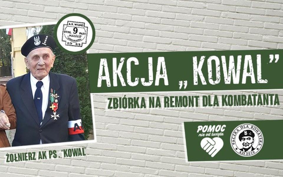 """Zbiórka AKcja """"Kowal"""" Pomoc Kombatantowi - zdjęcie główne"""
