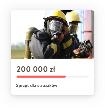 Project card with firefighters